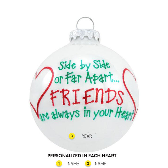 side by side friends ornament callisters christmas