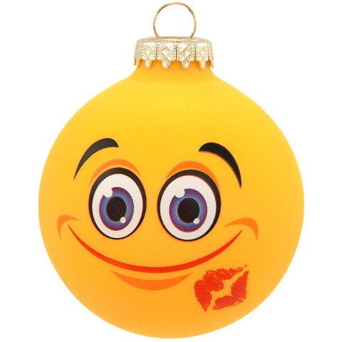 Kiss Face Emoji Ornament