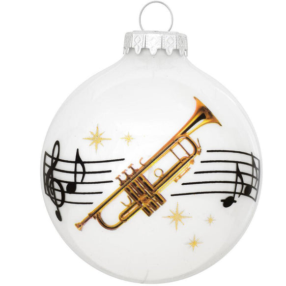 Trumpet Glass Bulb Ornament for Christmas Tree