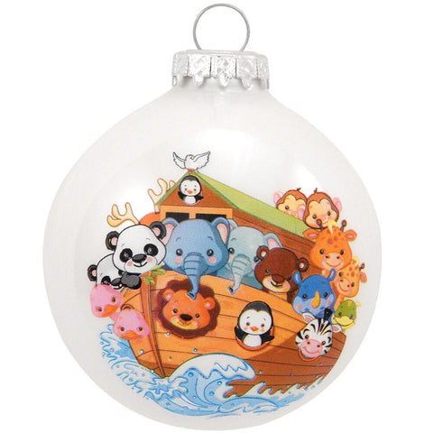 Noah's Ark Glass Ornament