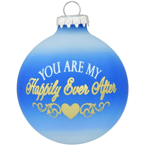 Happily Ever After Glass Ornament