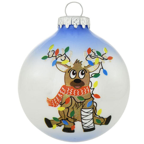 Reindeer in Cast Glass Ornament Christmas Ornament for broken bones