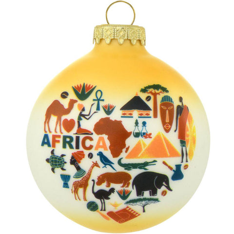 Africa Glass Ornament