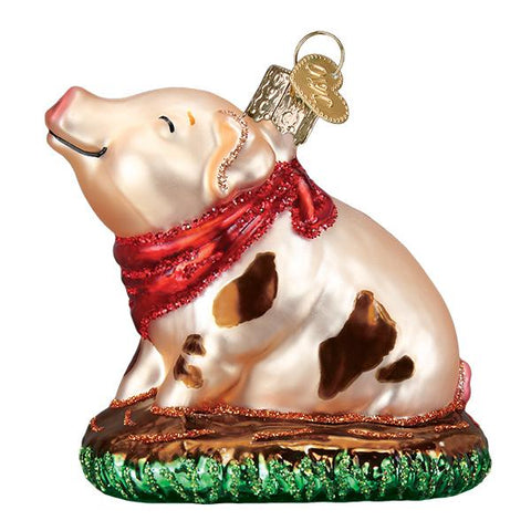 Piggy in the Puddle Ornament