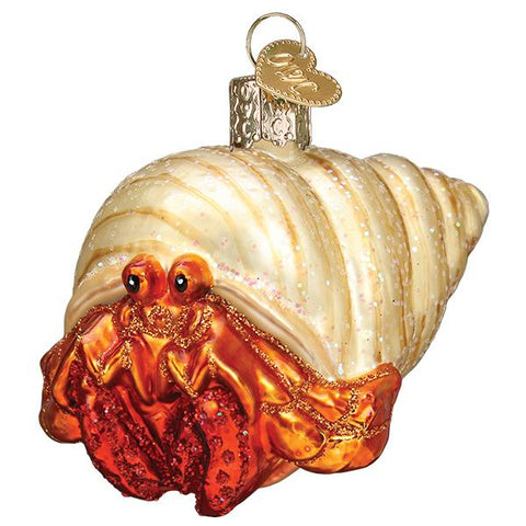 Old World Christmas Glass Hermit Crab in his shell ornament