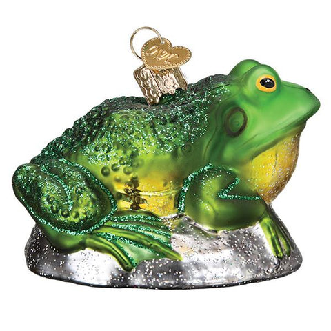 Glass Bullfrog ornament for Christmas tree