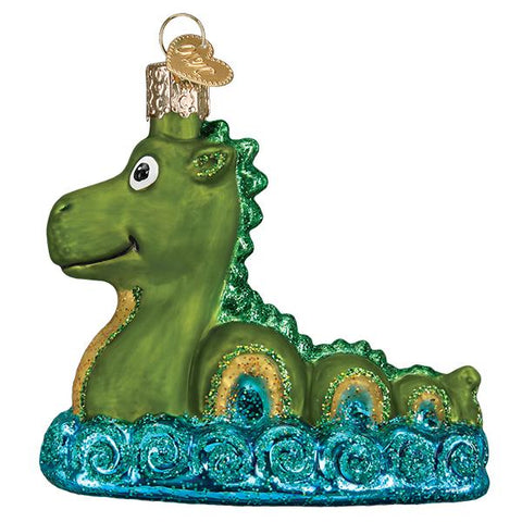 Glass Loch Ness Monster Christmas tree ornament