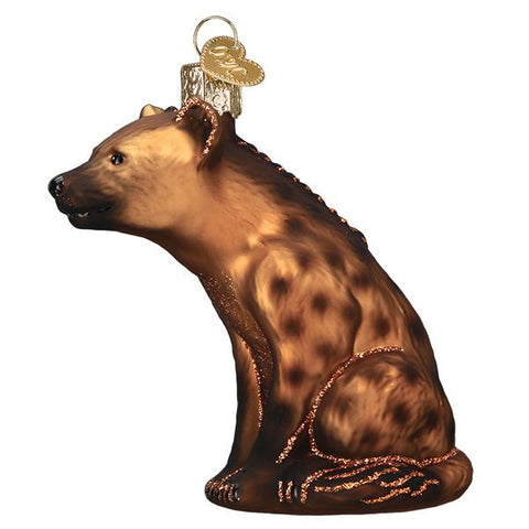 Glass Hyena Christmas tree ornament