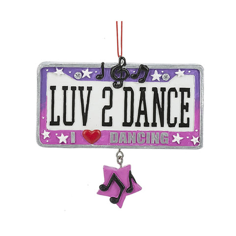 """Luv"" 2 Dance Ornament For Christmas Tree"