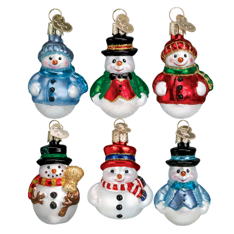 Mini Snowman Ornament Set