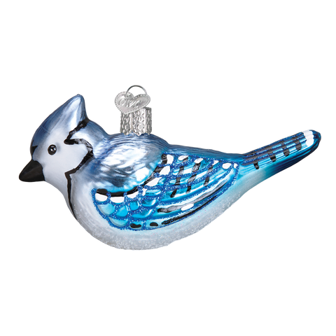 Bright Blue Jay Christmas Tree Ornament