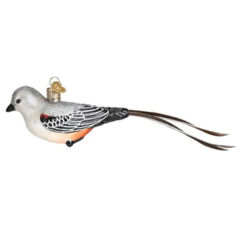 Glass Scissor-tailed Flycatcher Christmas tree ornament