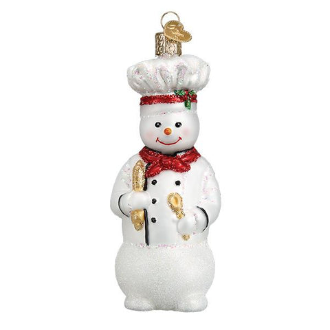 Snowman Chef Ornament