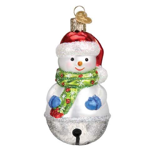 Jingle Bell Snowman Christmas Ornament