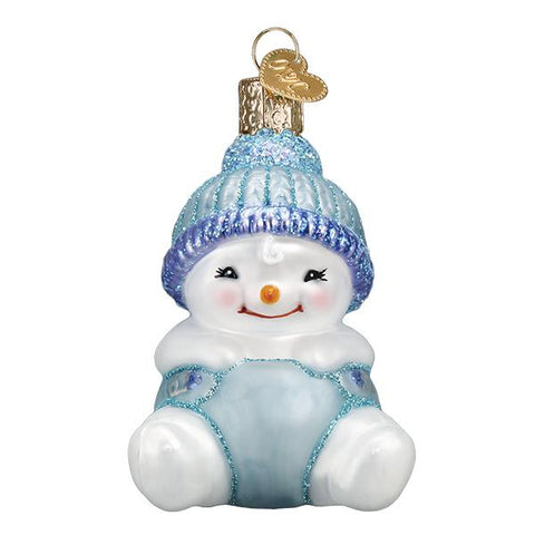 Snow Baby Boy Ornament