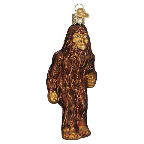 Glass Sasquatch Christmas tree ornament