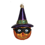 Masked Jack O' Lantern Ornament - with Witches Hat