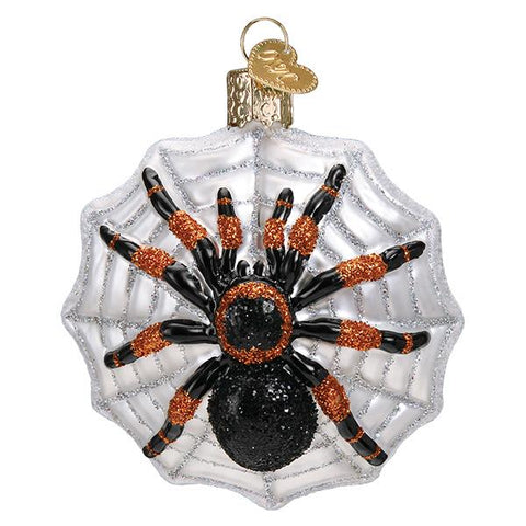 Glass Tarantula Spider Christmas tree ornament