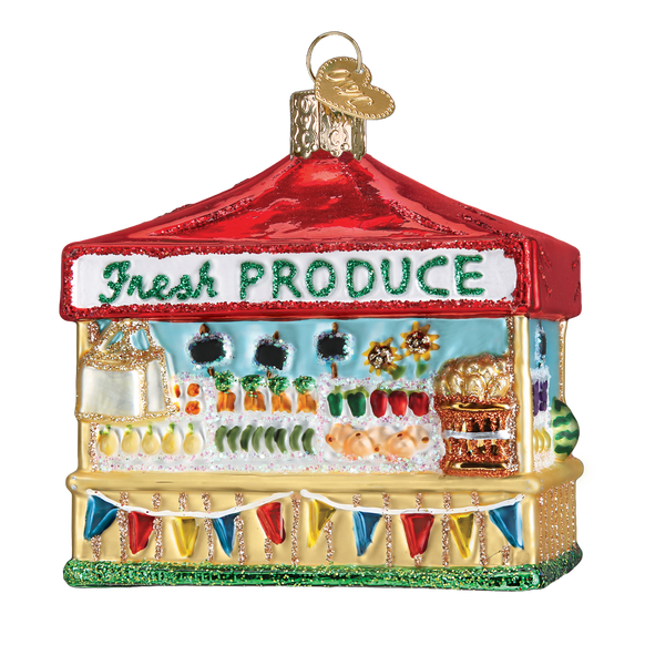 Farmer's Market Stand Christmas Ornament