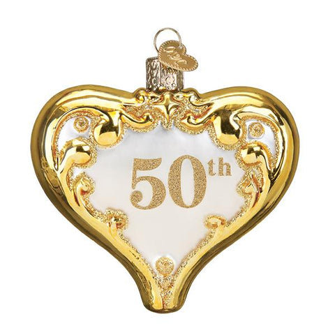 50th Anniversary Heart Ornament