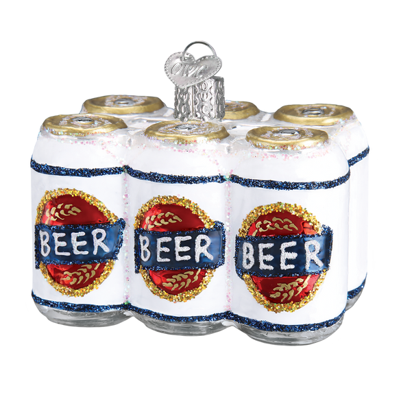 Six Pack of Beer Glass Ornament