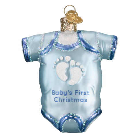 Baby Onesie Ornament-Blue