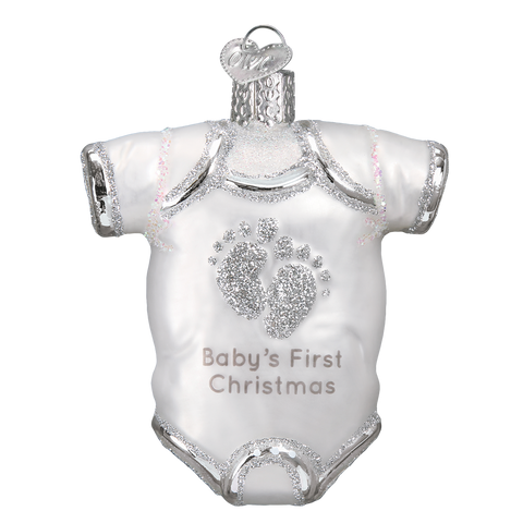 Baby Onesie Ornament-White