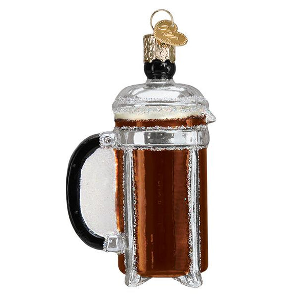 French Coffee Press Ornament