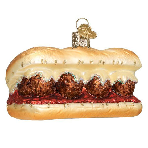 Meatball Sandwich Ornament