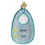 Baby Bib Ornament-Blue