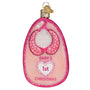 Baby Bib Ornament-Pink