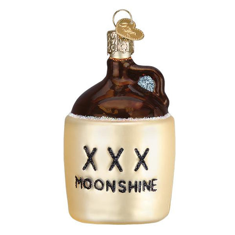 Moonshine Jug Glass Old World Christmas Ornament