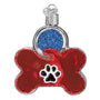 Dog Tag Personalized Christmas Ornament Blown Glass