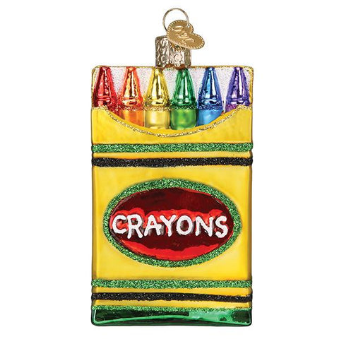 Glass Box of Crayons ornament for your Christmas Tree
