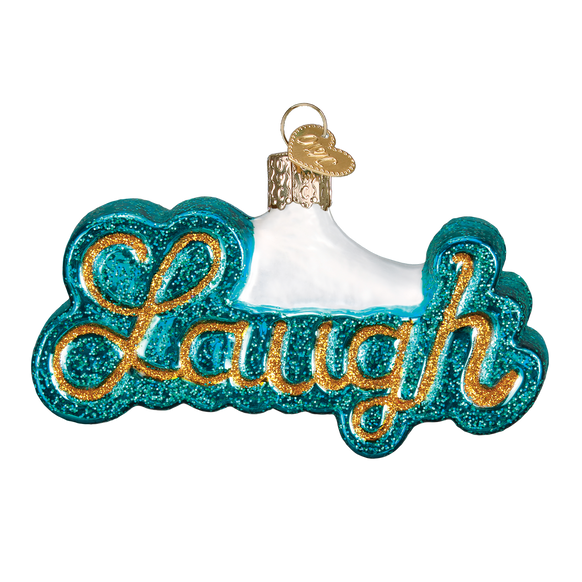 Laugh Glass Old World Christmas Ornament