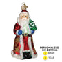 Glistening Golden Santa Ornament