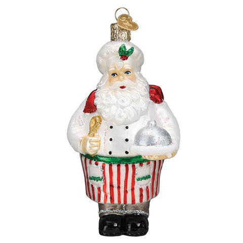 Glass Chef Santa Christmas tree ornament for that favorite chef in your life.