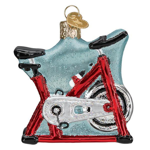 Glass Spin Cycle Christmas tree ornament