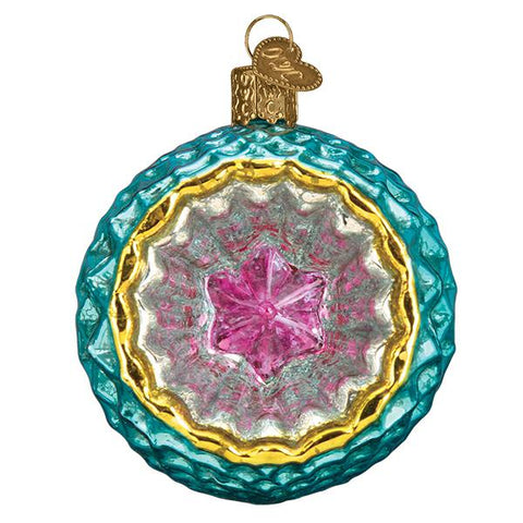 Glass Faceted Sky Reflection Christmas tree ornament