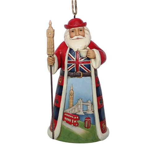 British Santa Christmas Ornament by Jim Shore