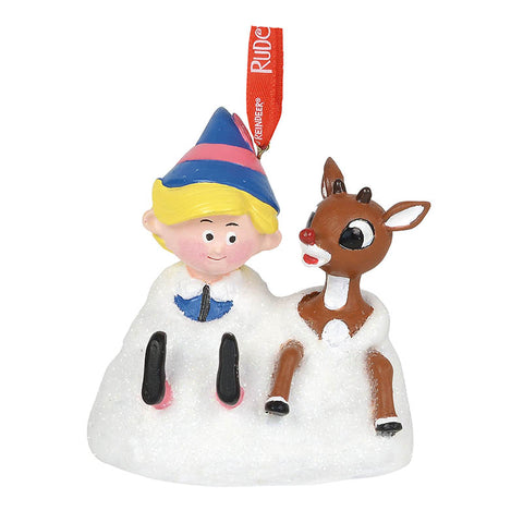 Rudolph and Hermey Musical Christmas Ornament