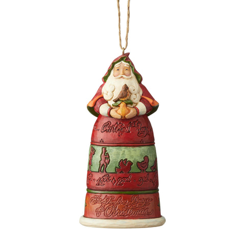 12 Days of Christmas Santa Ornament