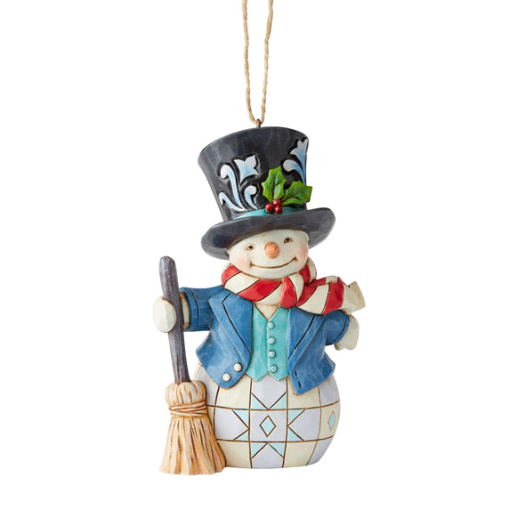 Christmas Top Hat Ornaments.Snowman With Top Hat Ornament