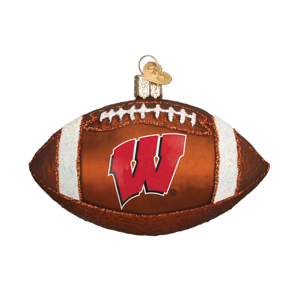 Wisconsin Badger Football Ornament