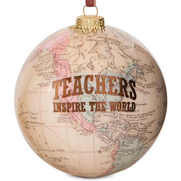 Teacher World Ornament for Christmas Tree