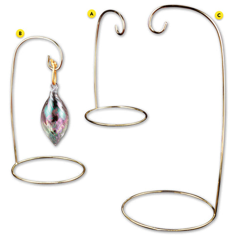 Ornament Stand - Brass Wire Single Stands