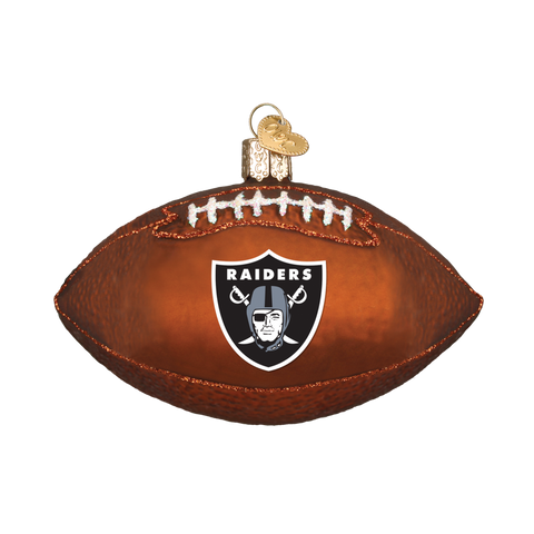 Oakland Raiders Football Old World Christmas Ornament