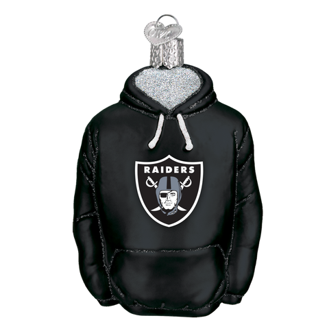 Oakland Raiders Hoodie Old World Christmas Ornament