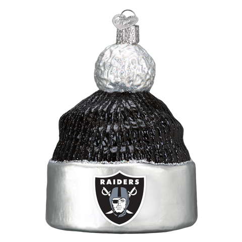Oakland Raiders Beanie Old World Christmas Ornament