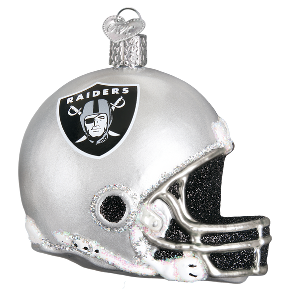 Oakland Raiders Helmet Old World Christmas Ornament